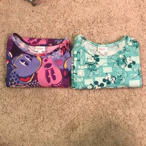 Bundle of two Mickey Mouse LulaRoe tops size small